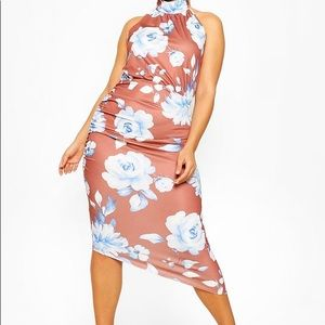 Boohoo Floral Halter Dress Size 20